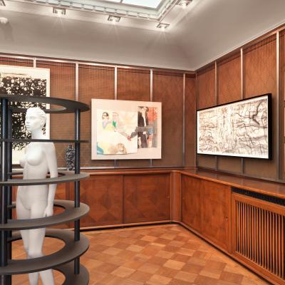 Installationsansicht Oberlichtsaal ©Stefan Altenburger Photography